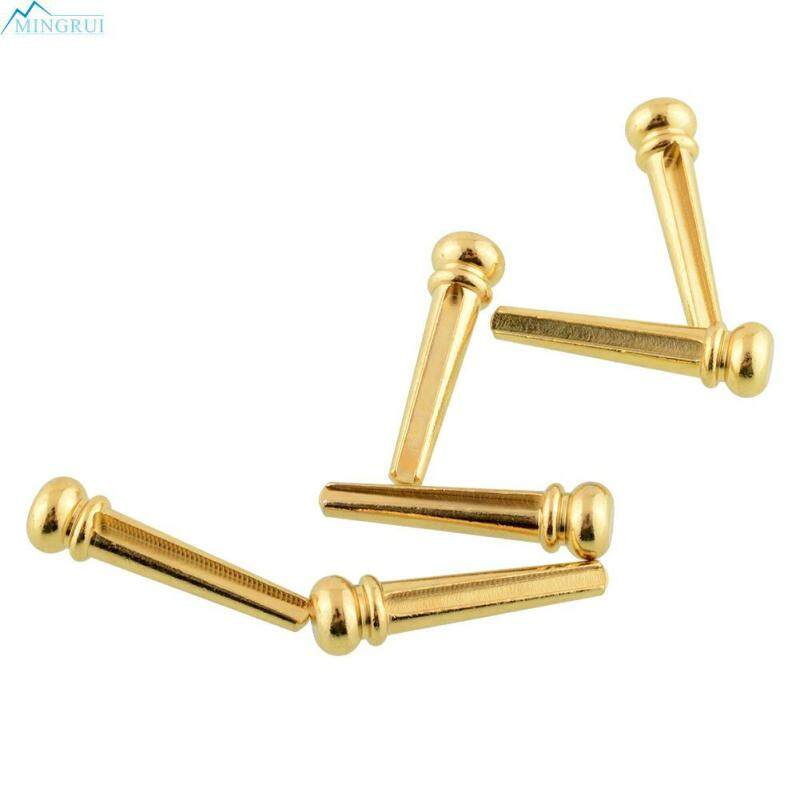 High Quality Useful 6Pcs Brass Bridge Pins End Pin Set for Acoustic Guitar Malaysia