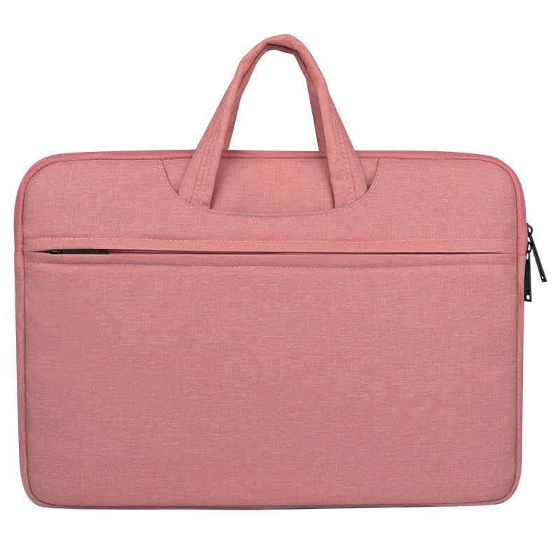 Pakaian Bahan Sejuk Tahan Bahu Genggam Zipper Tas Laptop untuk 12 Inch dan Di Bawah Macbook, Samsung, Lenovo, sony, Dell Alienware, CHUWI, ASUS Hp (Merah Muda)-Intl