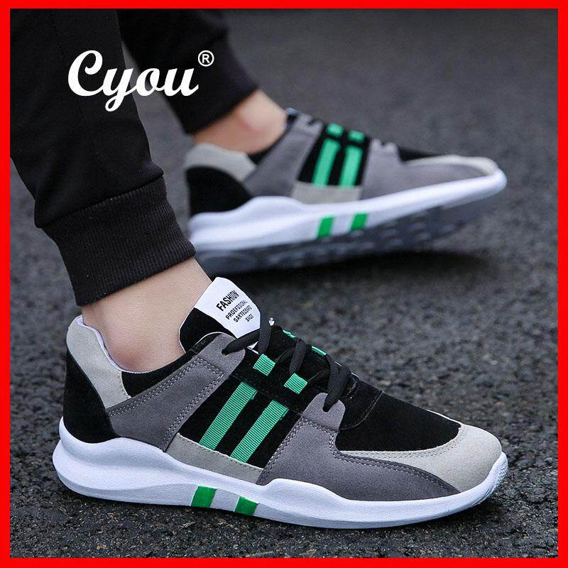 Cyou 2018 New Fashion Men's Sport Light Weight Flexible Athletic Gym Running Shoes Jogging Sneakers Casual