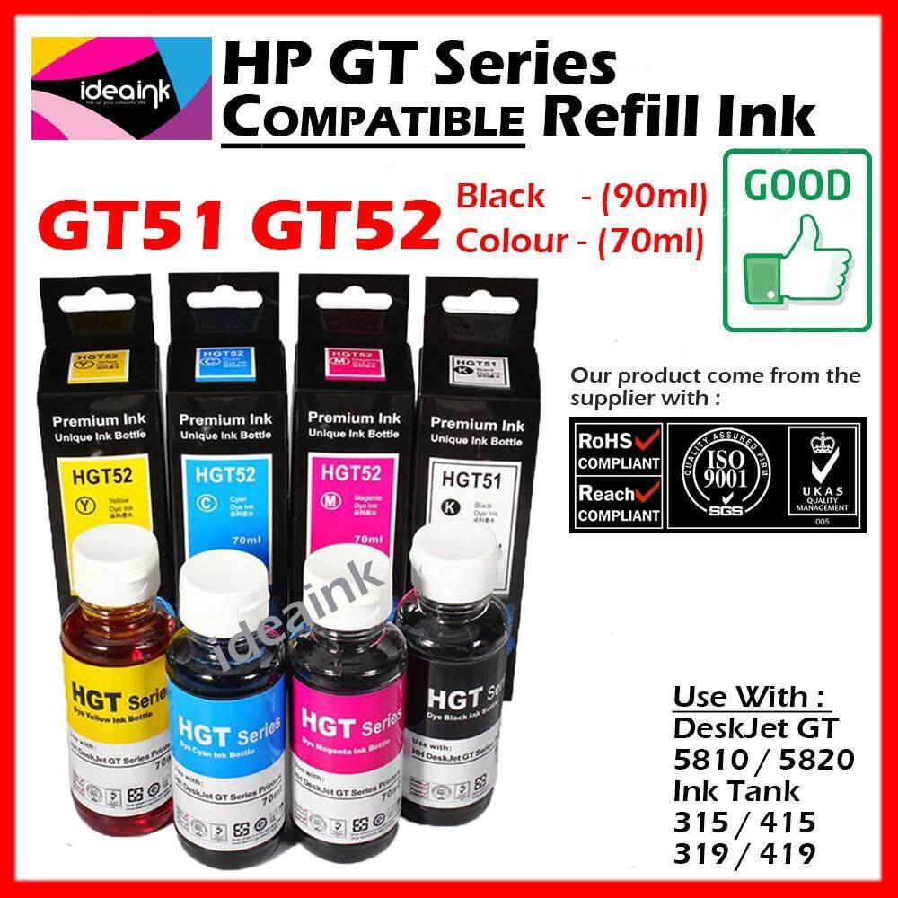 Hp Tinta Original Gt52 Yellow M0h56aa Daftar Harga Terbaru Gt51 Black M0h57a 90ml Refill Printer Deskjet Gt5810 Gt 5820 All In One Full Set Compatible Hybrid Series Ink