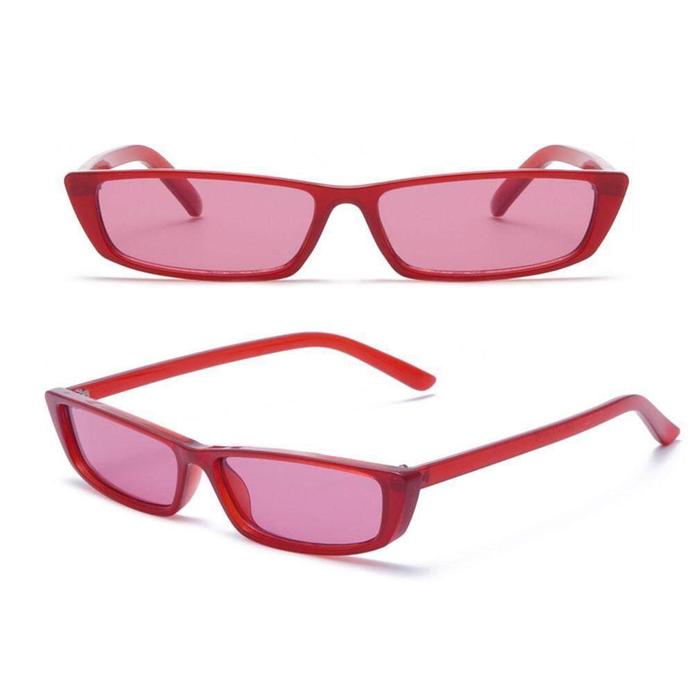 Umiwe Berbentuk Persegi Panjang Kecil Kucing Mata Kacamata Hitam trendi Kacamata Hitam Ramping .