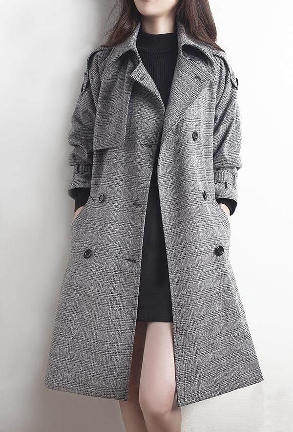 Jaket Angin Jaket Perempuan Gaya Korea 2019 Busana Musim Semi Model Baru Membentuk Tubuh Terlihat Langsing Model Setengah Panjang Ukuran Besar Wol Mantel By Koleksi Taobao.