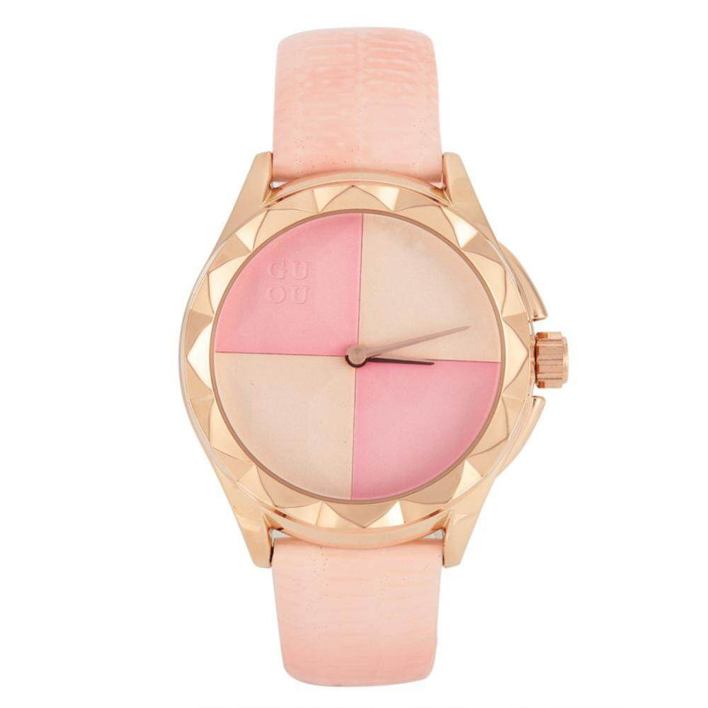 5Colors Women Lady Quartz Movement Leather Strap Round Dial Analog Watch Wristwatch - intl