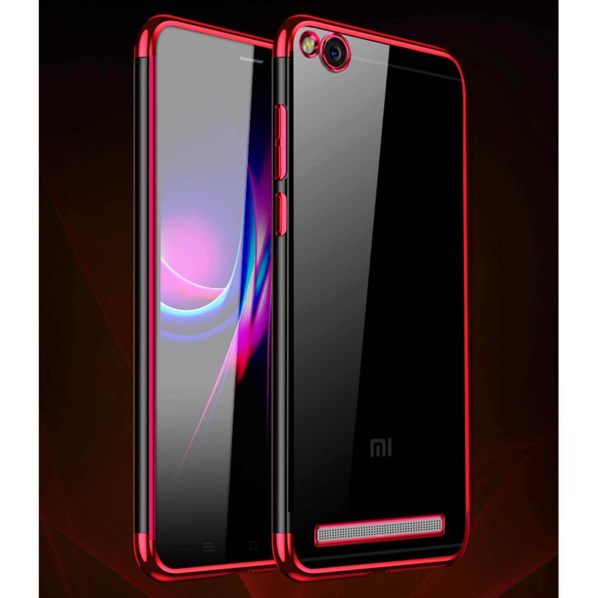 Untuk Xiaomi Redmi 4A Transparan Ultraramping Plating TPU Silikon Penutup Belakang Bening-Intl