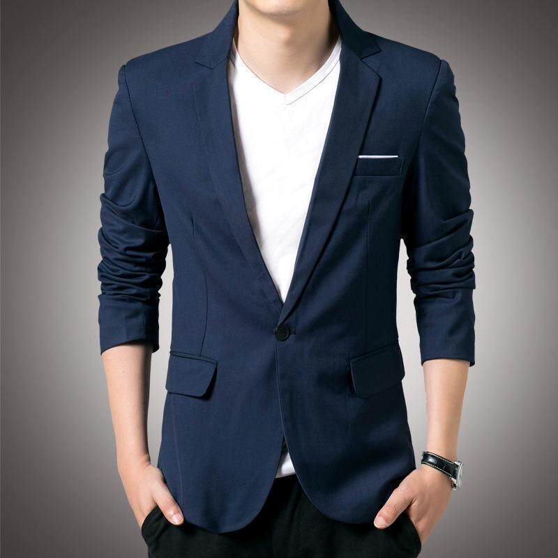 New Spring Autumn Men Thin Casual Blazer Cotton Slim England Suit Male Jacket Blazer For Men Free Gift Brooch By Yangs House.