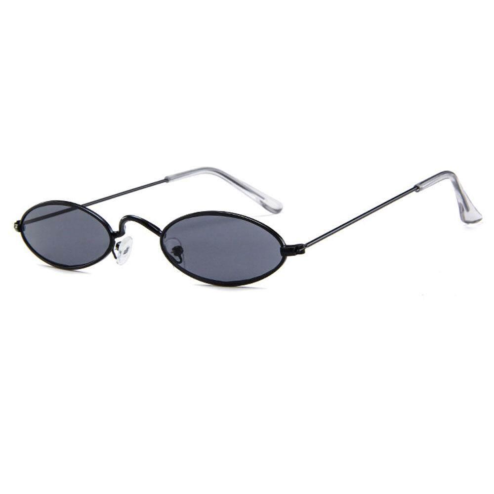 leegoal Small Oval Sunglasses, Mini Vintage Stylish Round Eyeglasses HD For Men Women Girls Fashion
