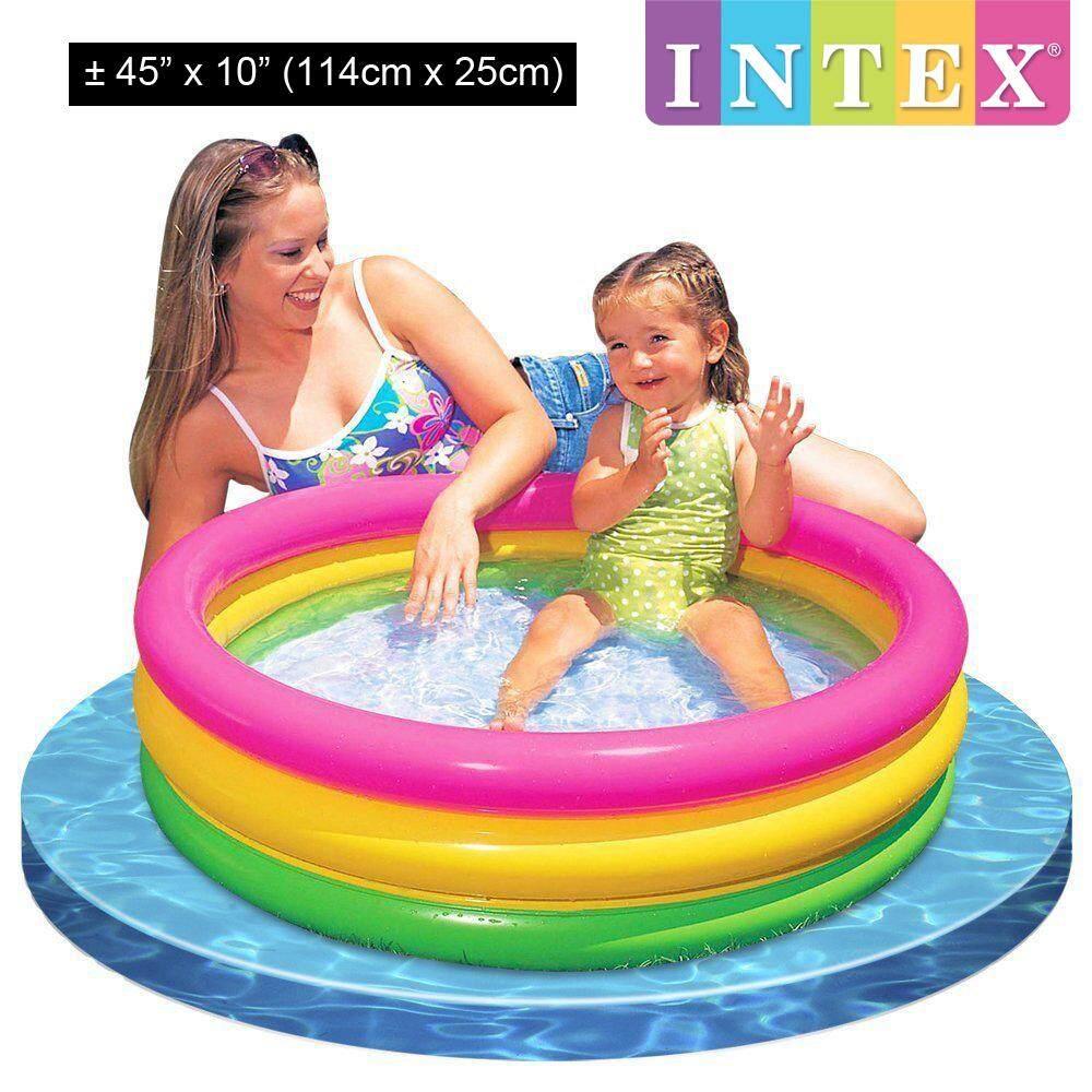 INTEX Inflatable Summer Sunset Glow Baby Kid Pool Round 114x25cm Model 57412