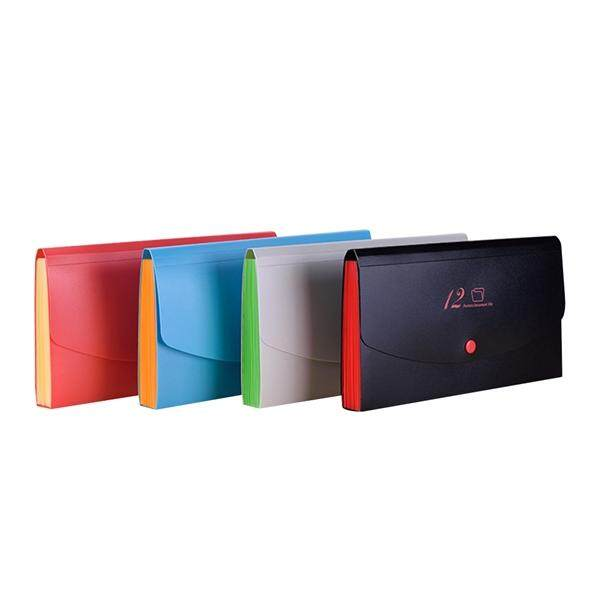 Mua 12 Grids Expanding File Folder Organiser Portable Plastic Documents Accordion Button Closure Business Document Folder Storage Bag with Lid for School Office Supplies (Random)