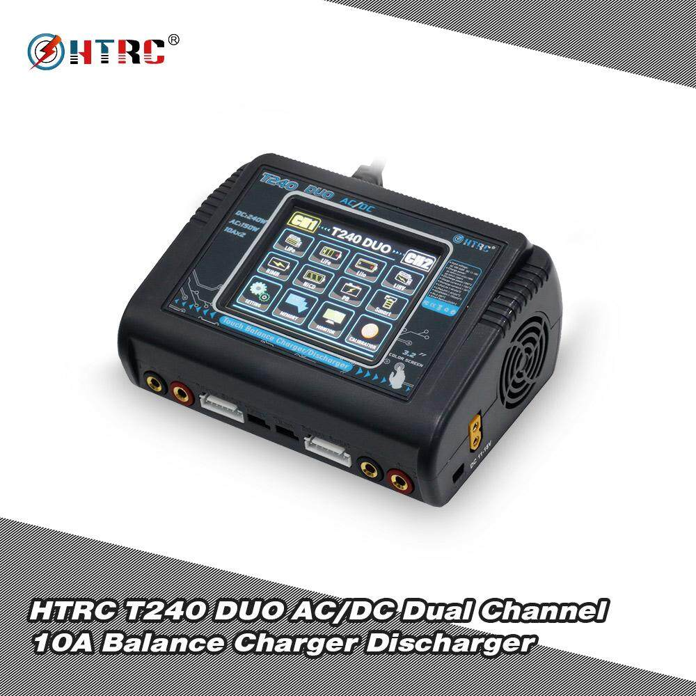 Where Can I Buy Htrc T240 Duo Ac Dc Input Charger Dual Channel 10A Balance Discharger For Lipo Lihv Life Lilon Nicd Nimh Pb Battery Rc Drone Intl