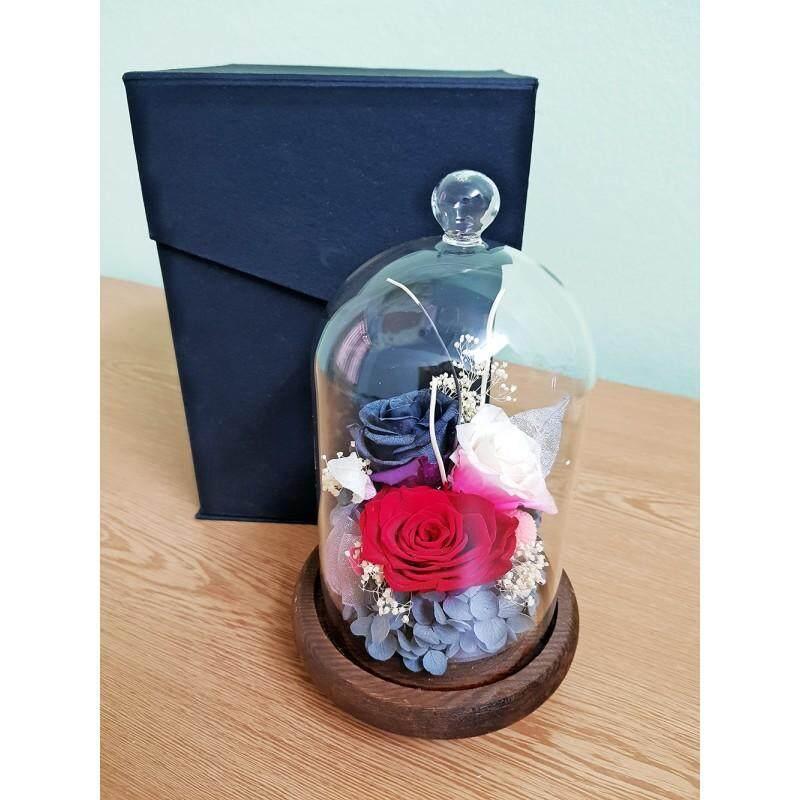 Preserved Fresh Flower Glass Gift Box
