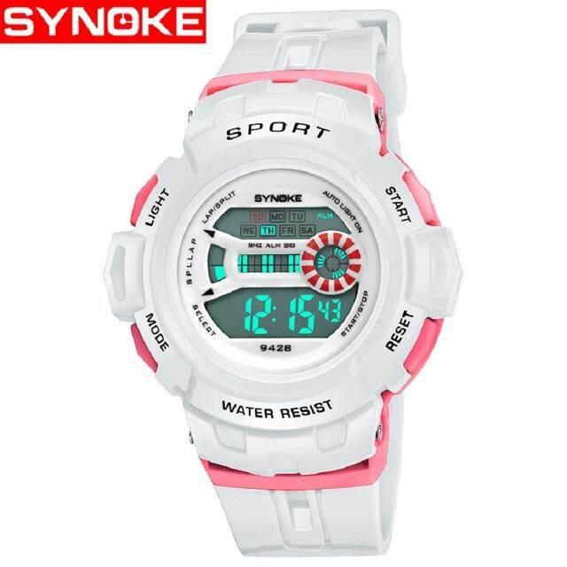 SYNOKE Brand Watch Sport LED Digital Wrist Watches for Boy Girl saat Calendar 30M Water Resistant