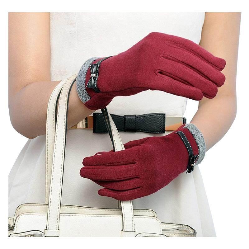 Detail Gambar Sentuh Sarung Tangan Motor Sarung Tangan Sarung Tangan untuk Layar Sentuh (Merah)-Intl Terbaru
