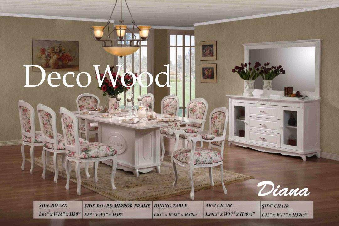 Diana Dining Table + 8 Cushion Stool Dining Set Breakfast Lunch Dinner Set Dining Chairs English Design England Style Europe Design