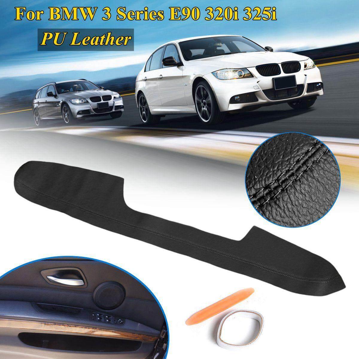 Left Door Armrest Panels Cover Trim Pu Leather For Bmw 3 Series E90 05-11 Black By Audew.