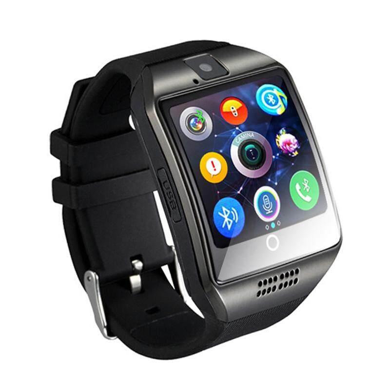 Detail Gambar Q18 Passometer Bluetooth Smartwatch Kamera Layar Sentuh Kartu TF untuk Android IOS iPhone-Intl Terbaru