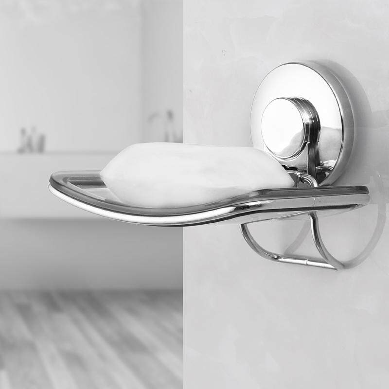 TAILI Soap Holder Rack Wall Mounted Soap Organizer Soap Dish Bathroom Draining Soap Sucker mit Suction Cup