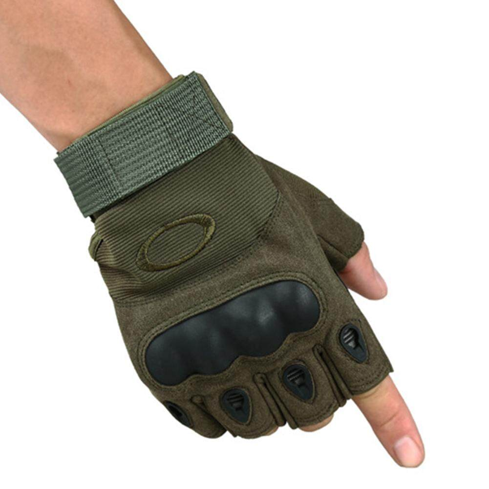 OS Antiskid Tactical Half Finger Gloves Combat Sports Training Fitness Fingerless Gloves M