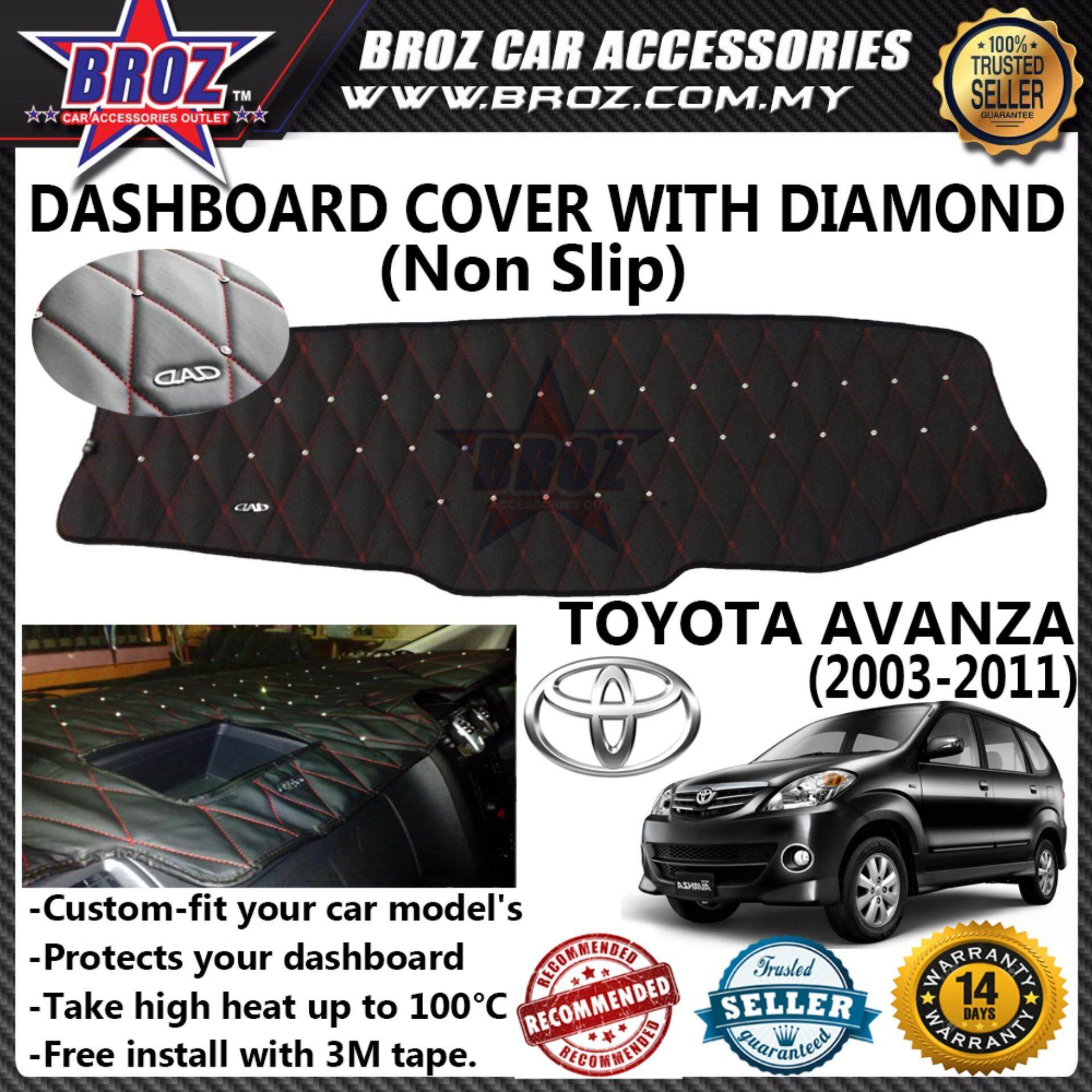 Non Slip Dashboard Cover with diamond for Toyota Avanza 2003-2011