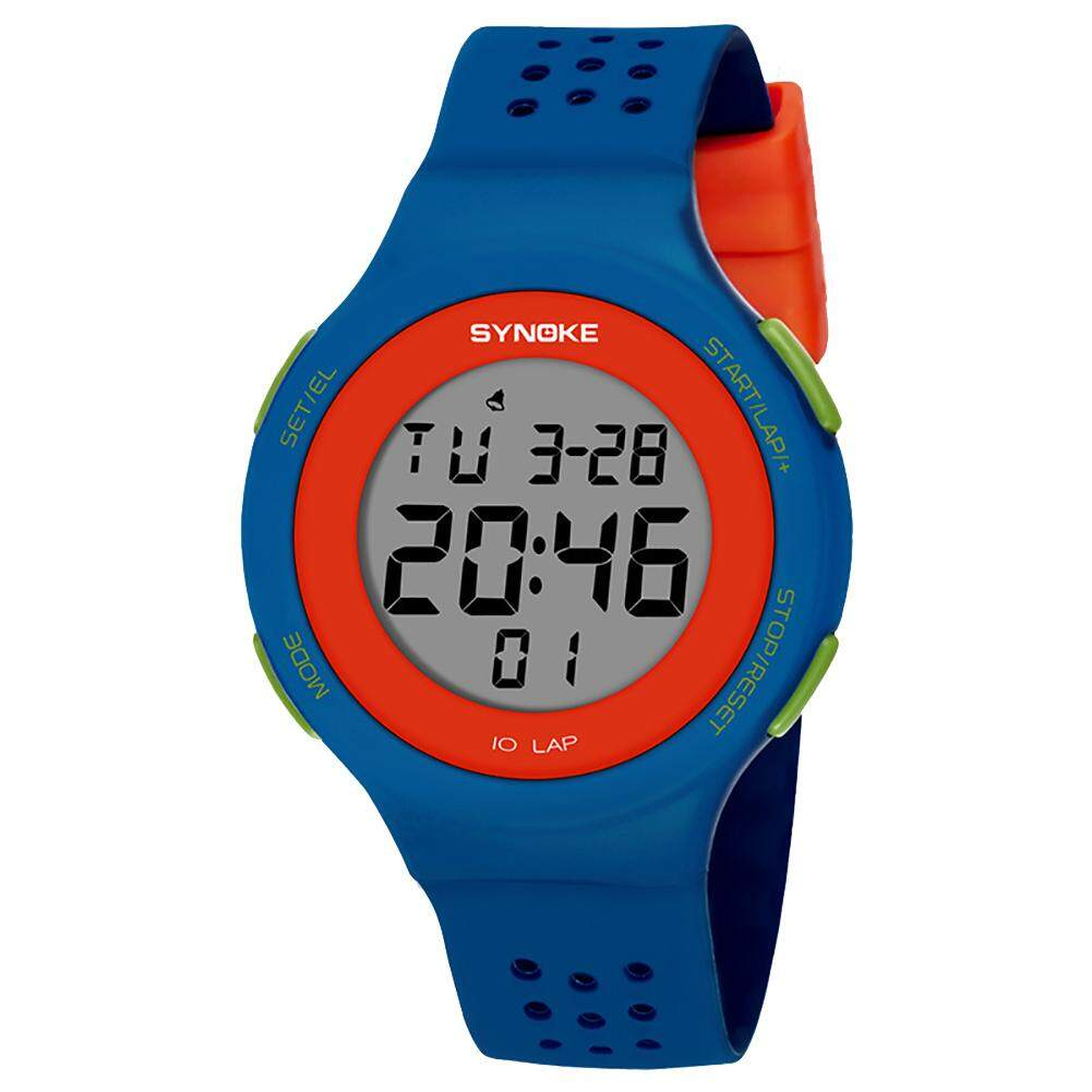 Bluelans® SYNOKE Ultra-slim Hollowed Band Luminous Waterproof Digital Unisex Sports Wrist Watch