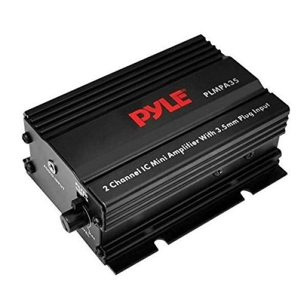 Pyle Dual Channel Mini Portable Stereo Receiver Box - 300 Watt Rack Mount Audio Speaker Power Amplifier System w/ 3.5mm Input - Enjoy Amplified Sound for Your Home Entertainment System - PLMPA35 / From USA