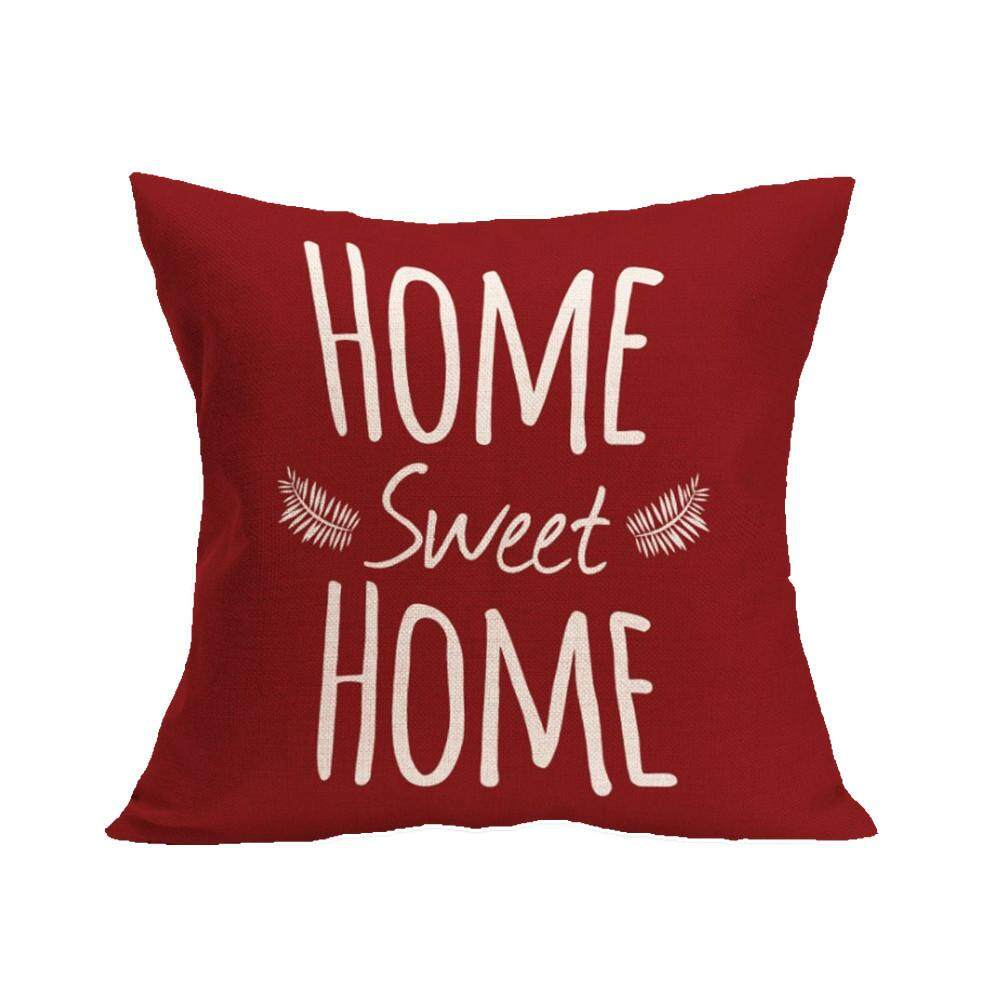 Hình ảnh Tertran HOME SWEET HOME Sofa Bed Home Decoration Festival Pillow Case Cushion Cover