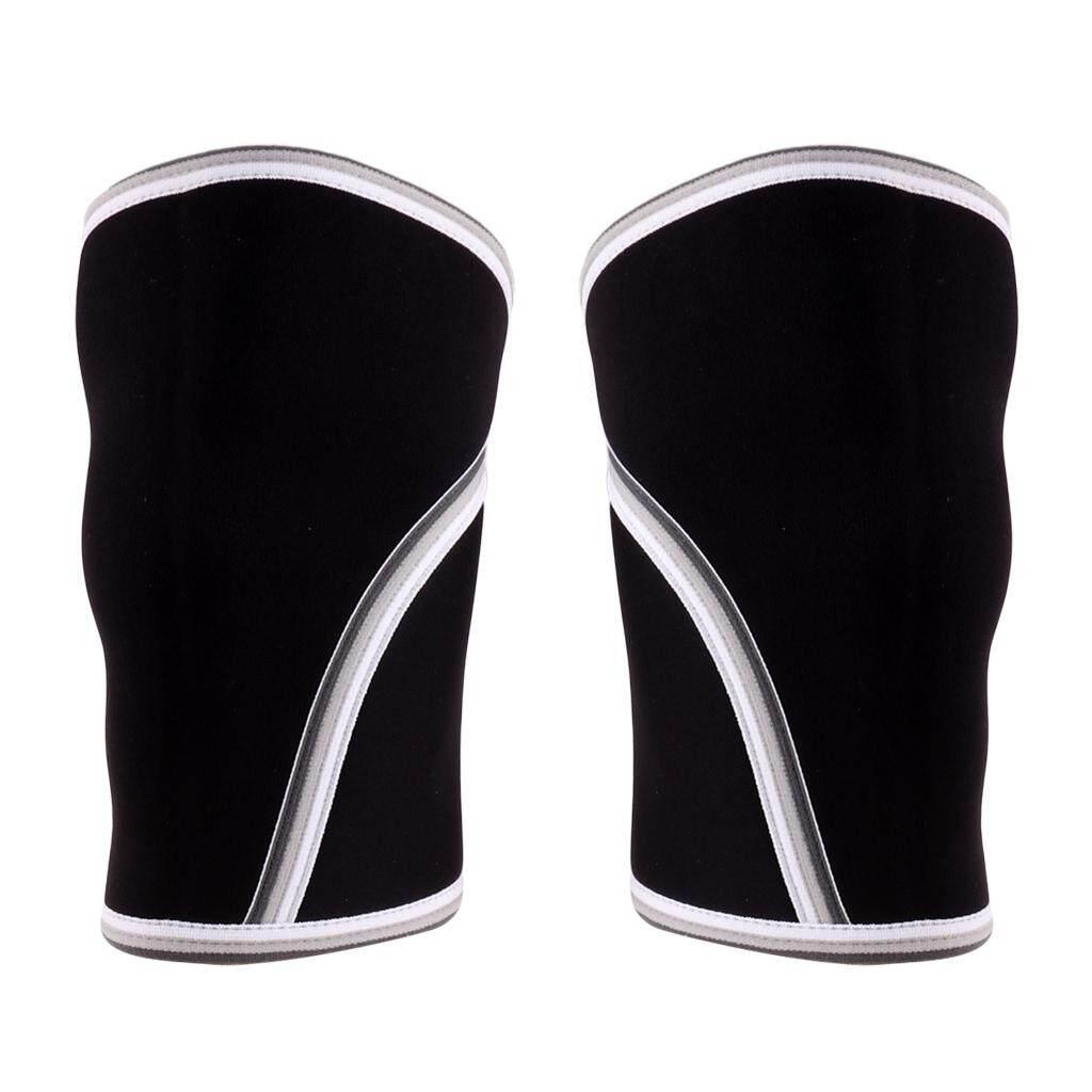 Miracle Shining 1 Pair 7mm Neoprene Compression Knee Sleeves Weightlifting Powerlifting M