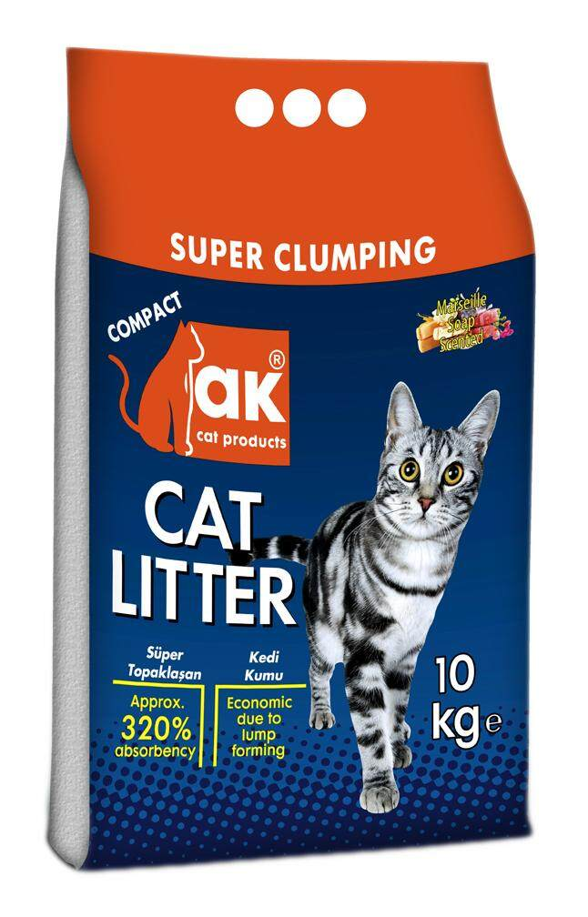 AK TURKEY #1 SUPER CLUMPING CAT LITTER 10KG (MARSEILLE SOAP SCENT) FREE CAT LITTER SCOOP LS-6 WORTH RM20.00