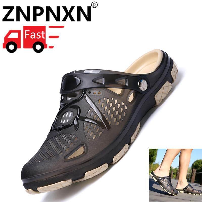 ZNPNXN Pria Lipat Flops Sandal Karet Kasual Pria Sepatu Musim Panas Modis  Pantai Lipat Flop Sandal fd2867d5eb