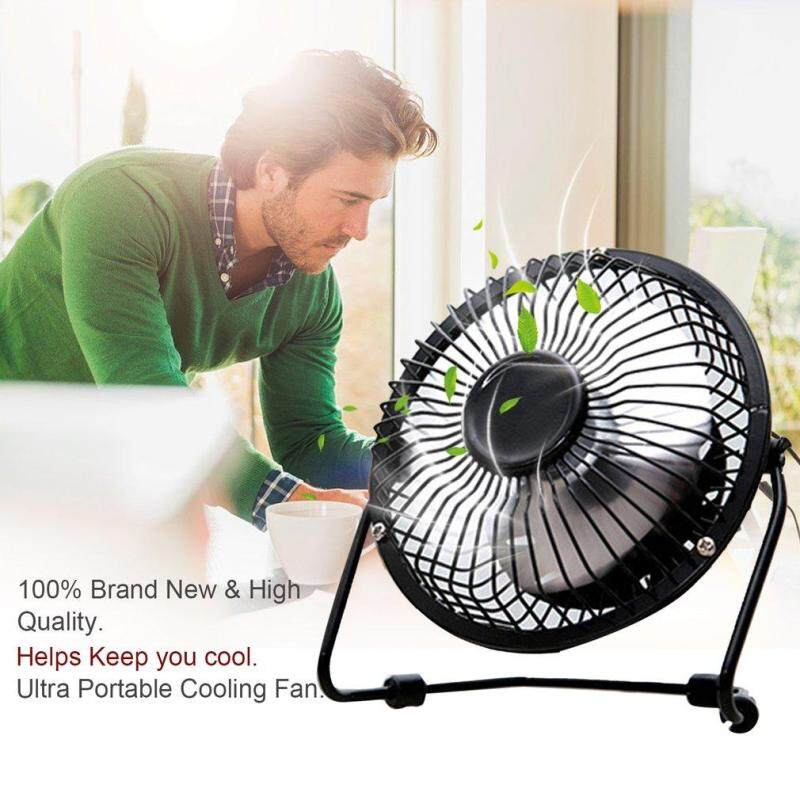 Bảng giá BELLE Mini Metal USB Fan Quiet Desk Cooling Fan Home Office Use For Computer Laptop black Phong Vũ