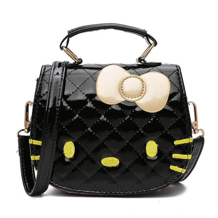 Hello Kitty กระเป๋าสะพายเจ้าหญิงกระเป๋าสตางค์ขนาดเล็กกระเป๋าสะพายข้างเด็กน่ารักถุงสิริการ์ตูน.