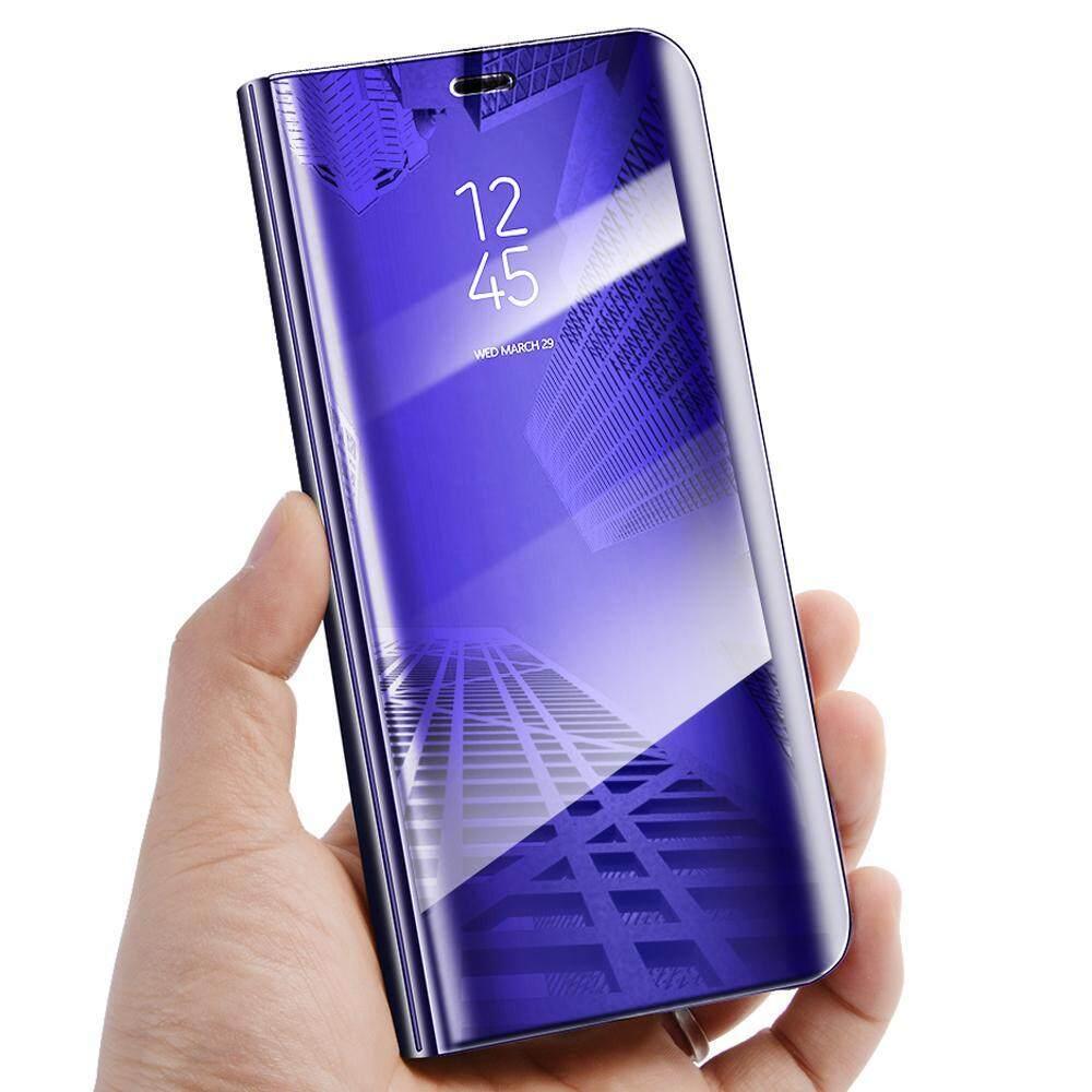 Untuk Galaxy J6 2018 Tutup Terbalik Mewah Plating Pelindung Cermin Pandangan Jelas Transparan Casing untuk Samsung Galaxy J6 Case Housing-Intl
