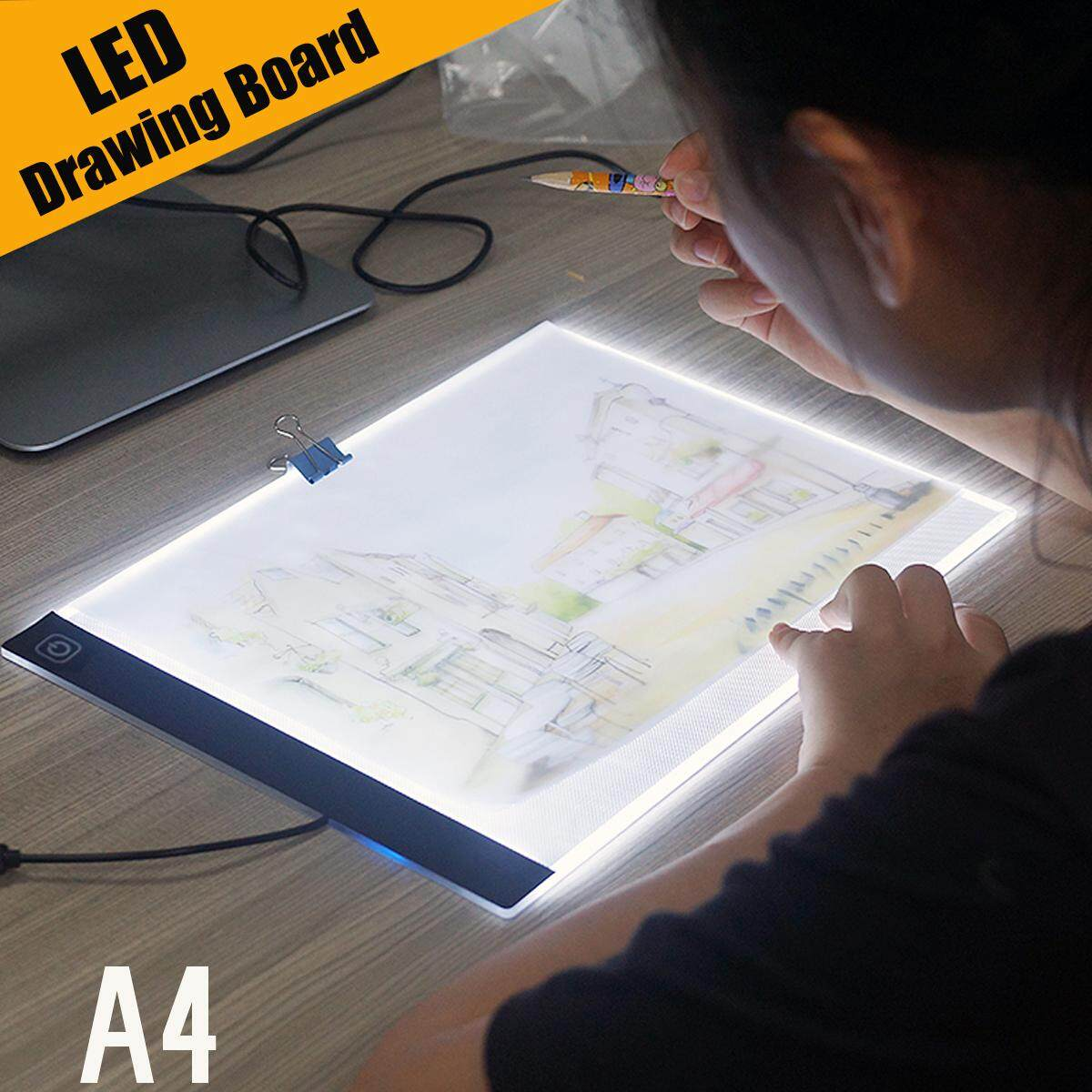 Mua A4 LED Artist Tattoo Art Stencil Board Light Box Table Tracing Drawing Board Pad - intl