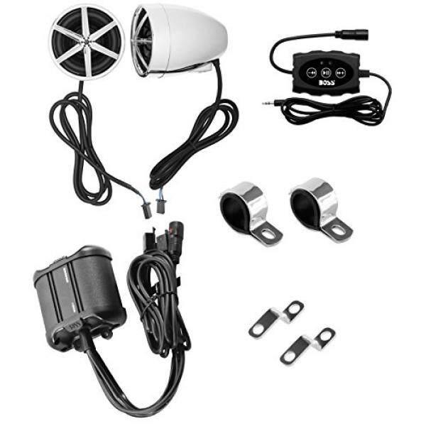Audio BOSS MC600B Bluetooth Semua Medan, Speaker Tahan Air dan Bunyi Pengeras Suara Sistem Dua 3 Inch Speaker Pengeras Suara Kecil, bluetooth Multi-Fungsi Pengendali Jarak Jauh-Intl