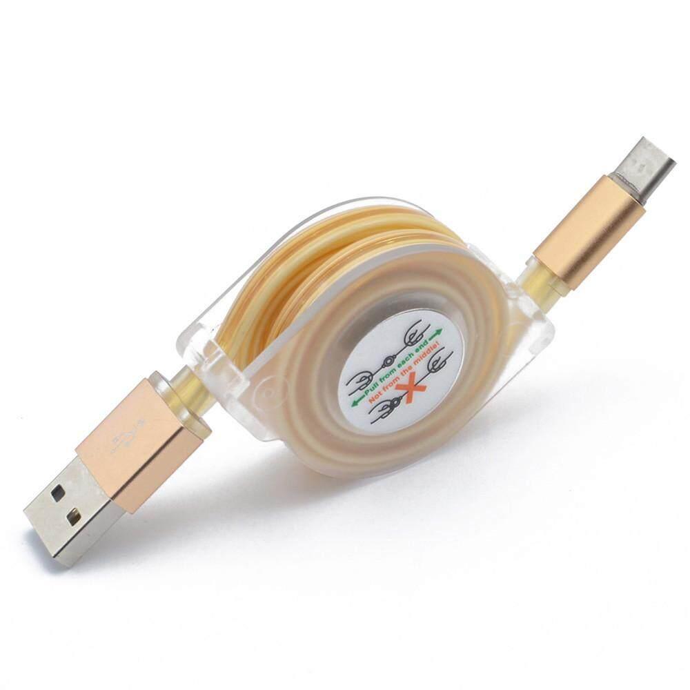 Lampu LED USB Tipe-C Charger Tanggal Kabel Pengisi Kabel untuk Samsung Galaxy S8