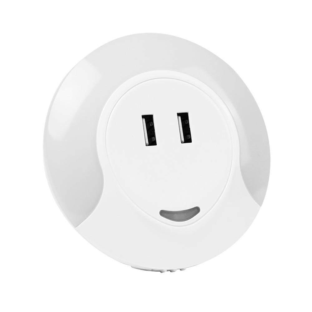 Huohu LED Lampu Malam dengan Otomatis Sensor UNTUK Fajar Senja, USB Charger Dinding dan 5 V 2A Dual Pelat Dinding USB Charger SEMPURNA UNTUK KAMAR Anak Kamar Mandi Kamar Tidur Lorong Dapur-Intl