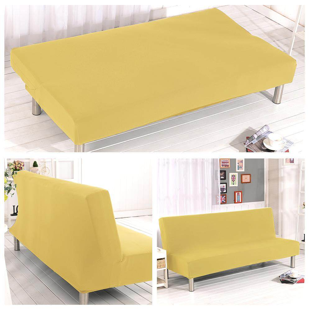Ryt Solid Color Detachable All-Inclusive Folding Stretch Sofa Bed Sofa Cover Protector Slipcover Without Armrests 1 Seater By Ryder Yi Trading.