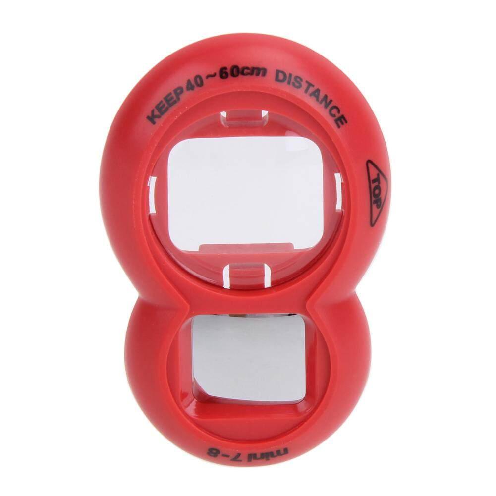 Lensa Close Up Cermin Potret Diri untuk Fujifilm Instax Mini 8 Mini 7 S Kamera (Merah)
