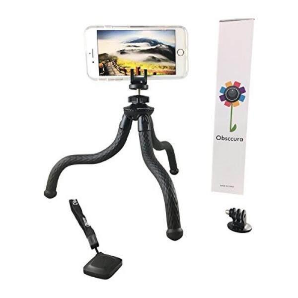 Fleksibel Tripod Mini Penyangga Iphone Kamera DSLR GoPro Camcorder Sel Tempat Ponsel dengan Bluetooth Remote dengan Obsccura Tugas Berat Benar-benar Ditekuk 5 Pound kapasitas Besar untuk Bepergian atau Menembak Vlog-Intl