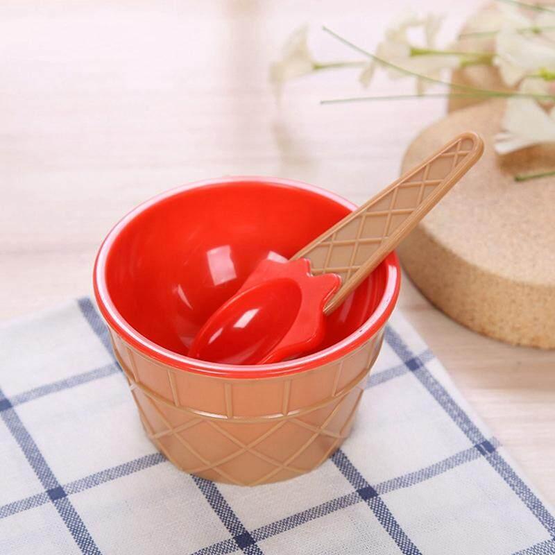 Linfang Asli Anak-anak Khusus Mangkuk Dua Lapisan Sendok Boutique Peralatan Makan 2 Pcs Set