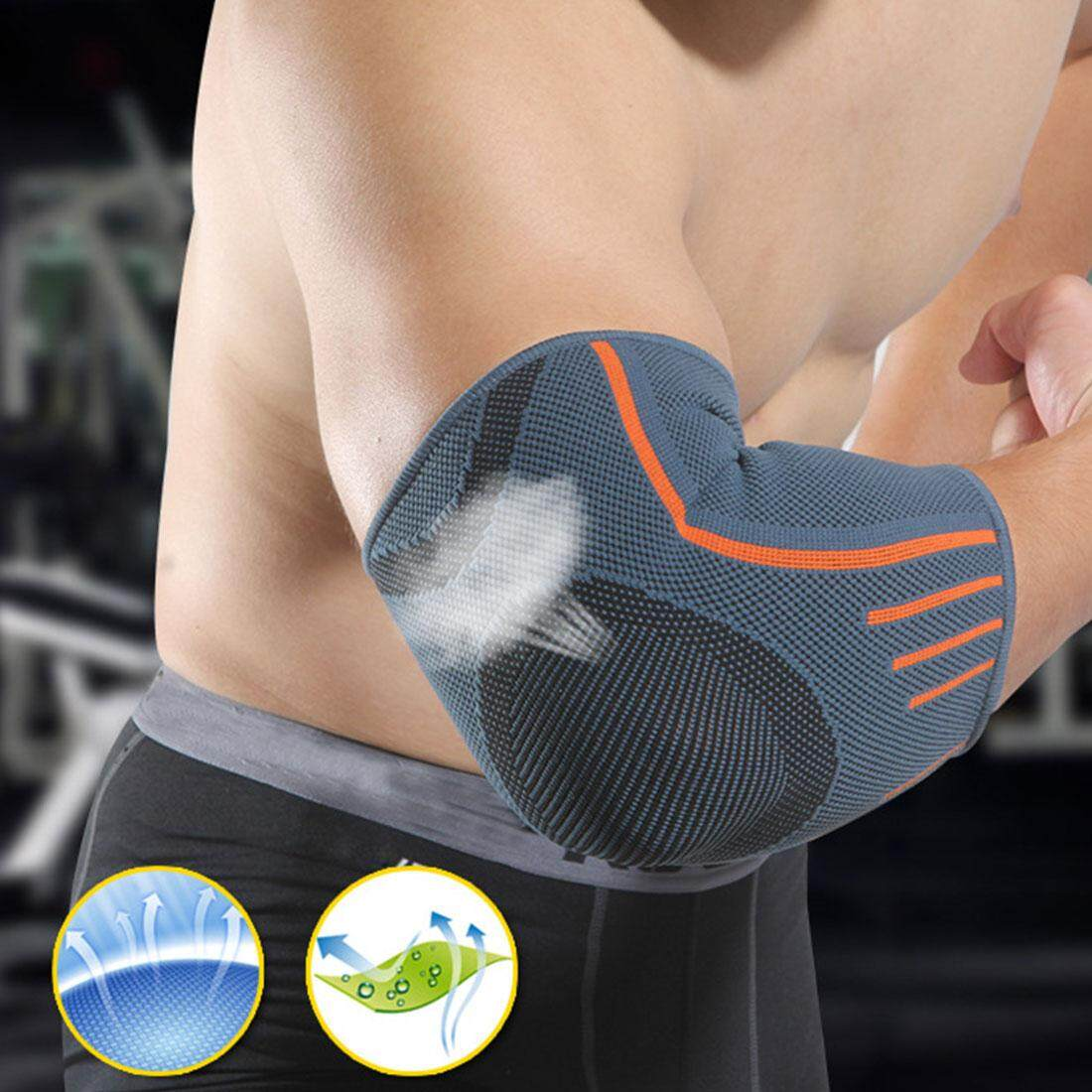 1PCS Professional Elbow Brace Support Sports Safety Elbow Protector Elastic Bandage Sweat Absorbing Elbow Pads Guard