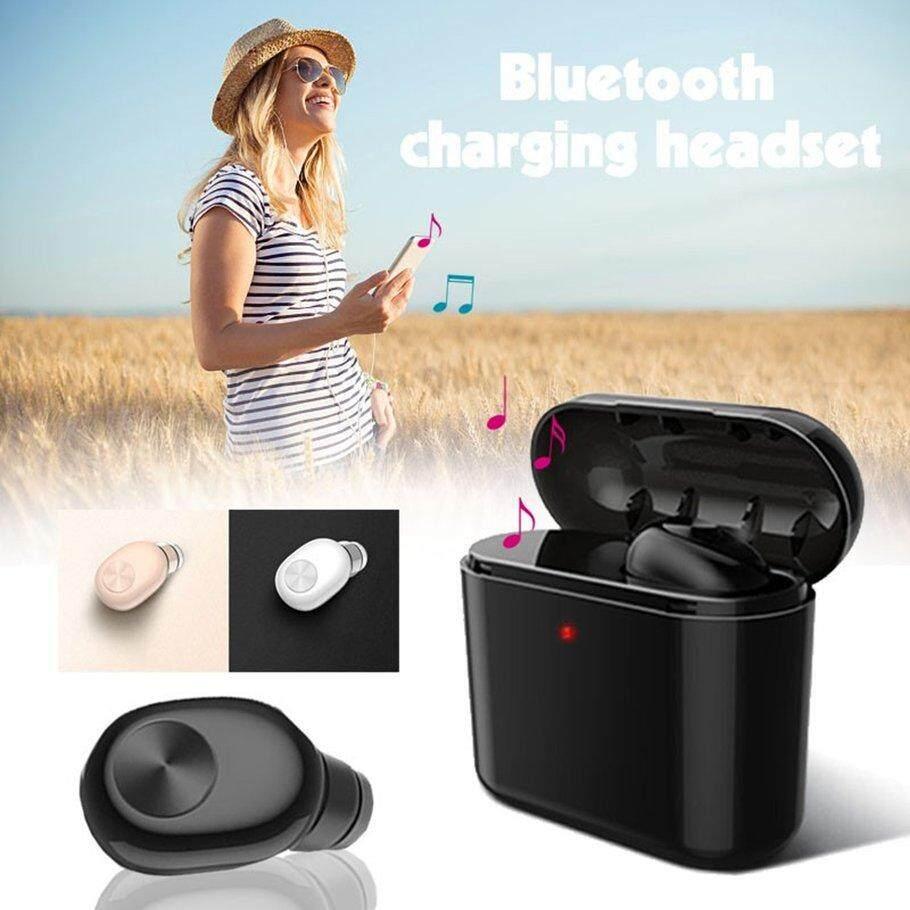 Nyaman BL1 Invisible Nirkabel Mini Earphone Bluetooth Nirkabel Headset Bluetooth untuk Ponsel dengan 750 MAh Kotak