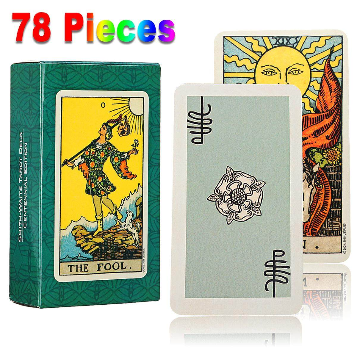 1 Set Of 78pcs Tarot Deck Cards Smith Waite Tarot English Full Version Card Game By Laker.