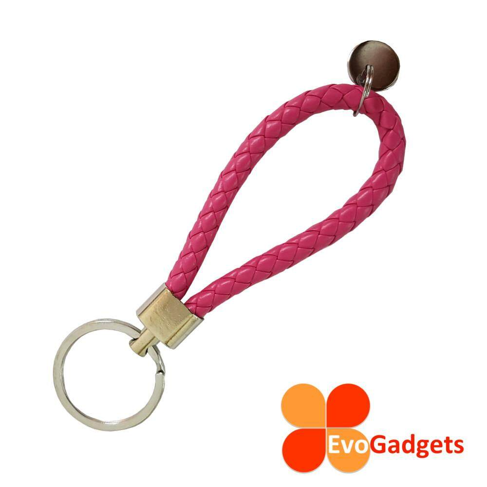 Creative Woven Rope Keychain - Simple and Stylish (Pink)