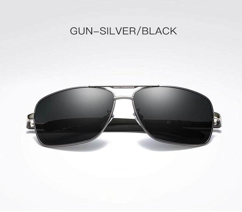 18b5f9193c AIDIXI Fashion Men Polaroid Lens HD Polarized Sunglasses (Grey Silver Frame)