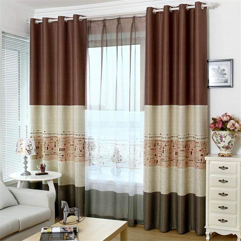 New Window Curtains Drape European printed shade curtain for living room bedroom - intl