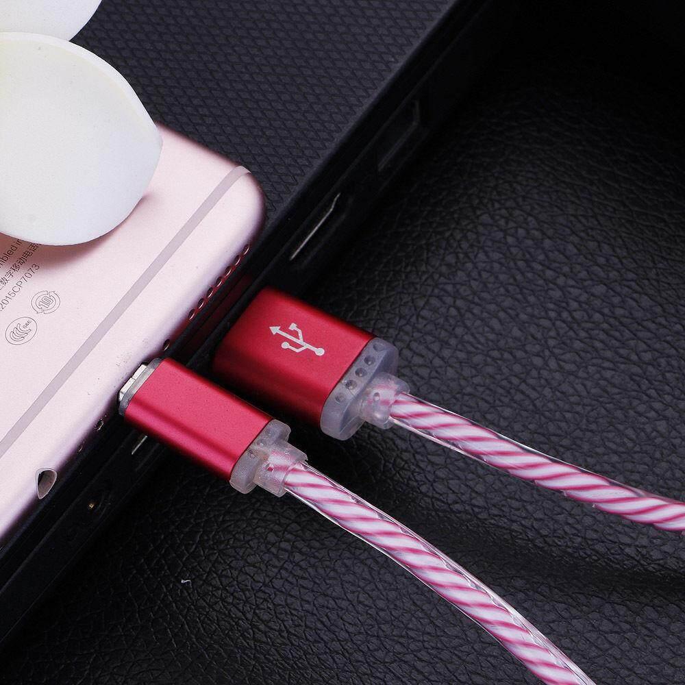 Planiesty Cahaya Alat Pengisi Daya LED Bercahaya Pengisian Tanggal Kabel Sinkronisasi untuk Samsung Galaxy S7 BK-Intl