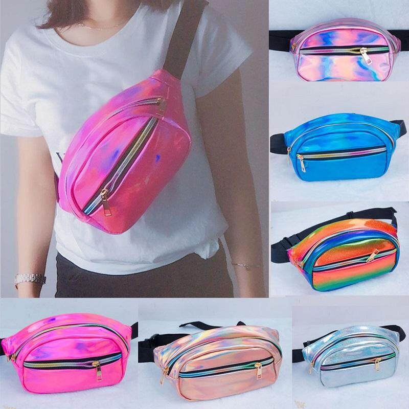 13793652f4a6 Waterproof Laser Fanny Pack Hip Waist Pack Belt Pouch Women Unisex Waist Bag