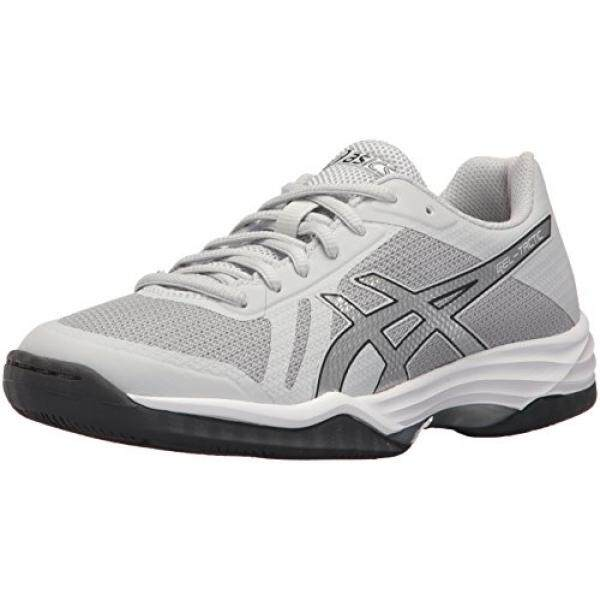 ASICS Womens Gel-Tactic 2 Volleyball Shoe, Glacier Grey/Silver/Dark Grey, 7.5 Medium US / From USA