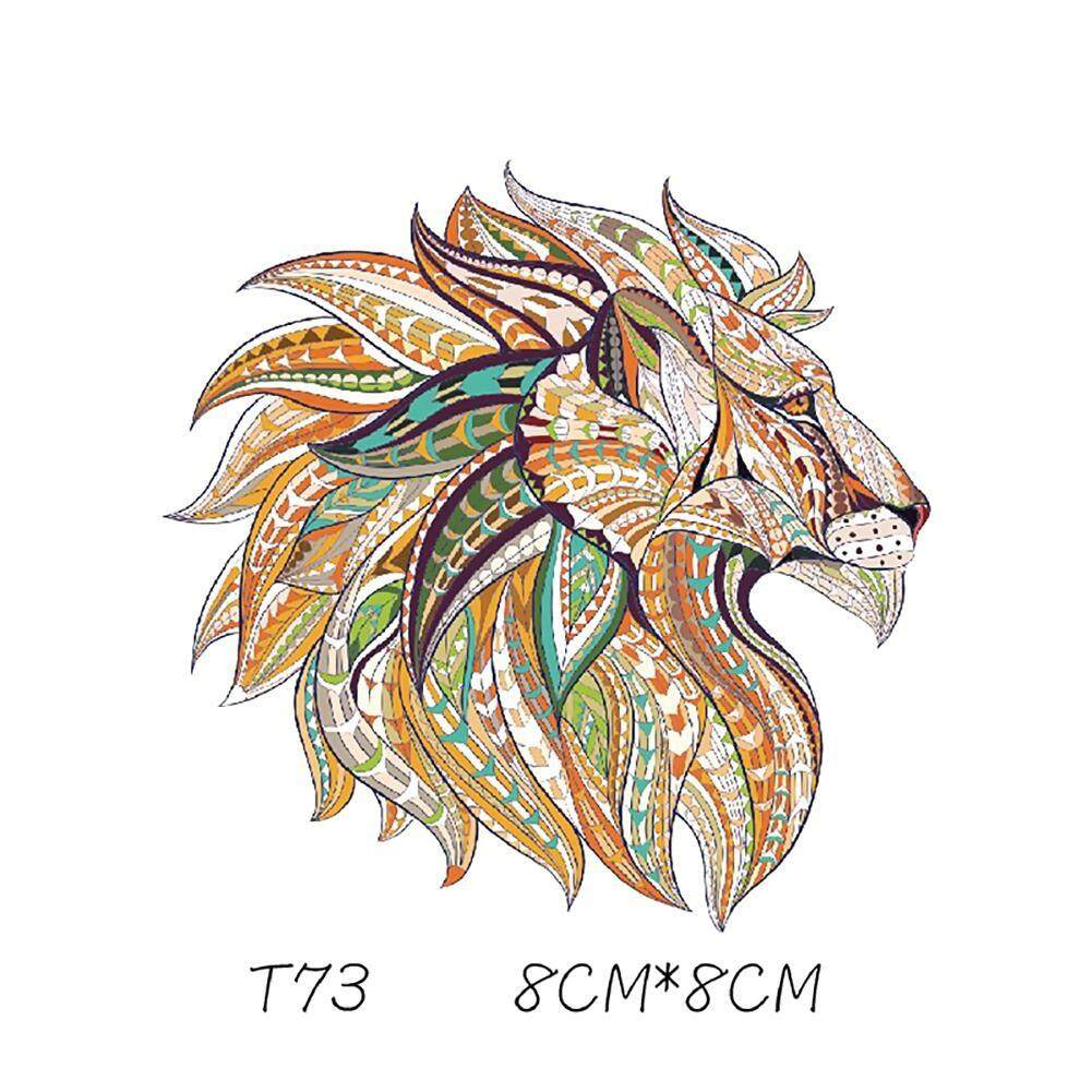 Ethnic Style Animals Tiger Dragon Patches Heat Transfer Offset DIY Clothes Stickers Iron On Patches Decorative Stickers - intl