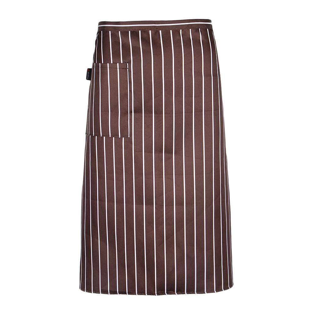 Hình ảnh MagiDeal Unisex Stripe Chef Apron With Pocket Restaurant Kitchen BBQ Apron Coffee